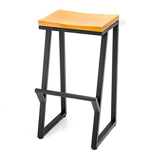 men Multifunktions Ganzes Outfit Bar Dining Leisure American Simple Holzfarbe, 4 Größen Dual-Use (Farbe: Holzfarbe, Größe: Höhe 75 cm) ()