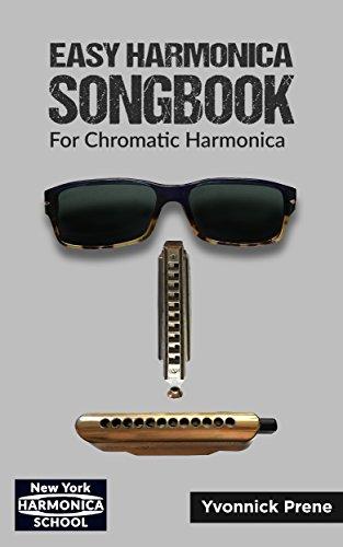 Easy Harmonica Songbook: For Chromatic Harmonica   70 Audio Examples   Lyrics and Tabs (English Edition)