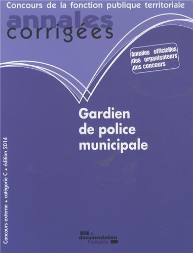 Gardien de police municipale 2014 par CIG petite couronne
