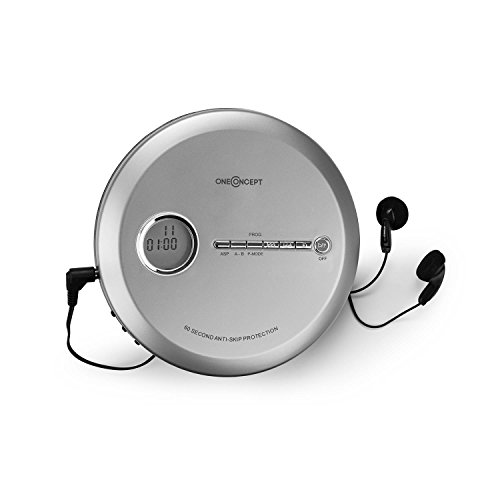 oneConcept CDC 100MP3 • Discman • Disc-Player • CD-Player • Programmierfunktion • Bassverstärkung • Anti-Schock-System • LCD-Anzeige • mobile Betriebszeit bis zu 8h • Unterstützte Formate: CD, CD-R, CD-RW und MP3-CD • inkl. InEar-Kopfhörer • silber