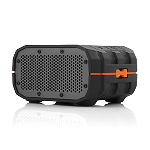 Braven BRV-1 Portable Ultra Rugged Wireless Speaker - Lava - Black/Grey + Orange Trim