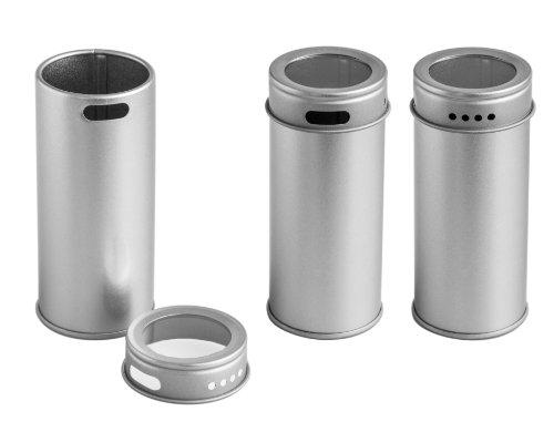 12 petites boîtes à épices pots à épices avec fenêtre Diamètre 4,3 cm, hauteur 9,5 cm