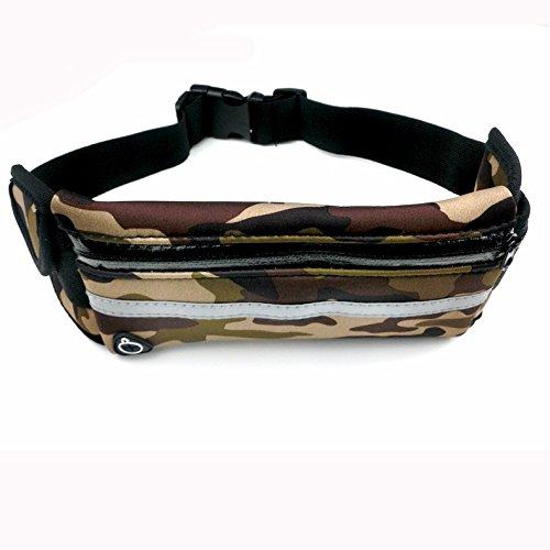 Outdoor-Multifunktionale Reiten Tasche, Männliche Freizeit, Sport Getarnt, Sport-Taille-Tasche tarnung