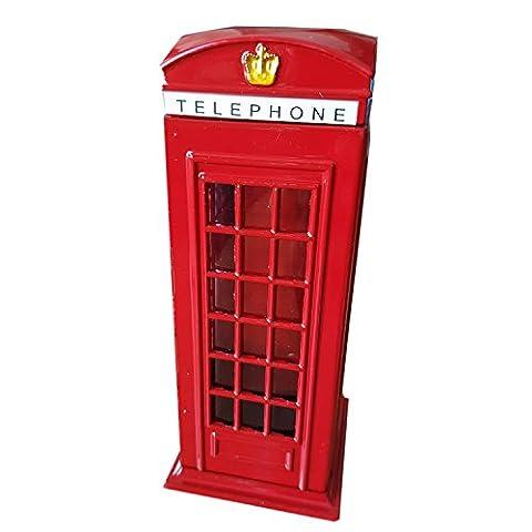 Rouge London téléphone Box à collectionner Métal moulé sous pression avec une Tirelire Union Jack sur la boîte/Tirelire. souvenir/Speicher/Memoria. Donnez une à collectionner. Tirelire/Tirelire Motif/Salvadanaio/Framan.