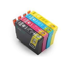 4 compatible cartouches d'encre avec Puce pour Epson T1636 16XL pour Epson WorkForce WF2010 W, WF2510 WF, WF2520 NF, WF2530 WF, WF2540 WF compatible pour T1635XL