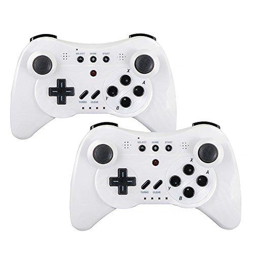 QUMOX 2 x Controlador Mando de Juego Portátil Gamepad inalámbrico de Bluetooth para la Consola de Nintendo Wii U, Bnalco