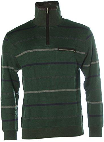 Kitaro Herren Fleecepullover Pullover Troyer in verschiedenen Farben und Größen, Baumwolle Deep Forest