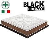 Memory Foam Matratze mit 5cm Memory Foam – Modell Dolomiti - 22cm hoch- gerollt, vakuumverpackt - KOSTENLOSE LIEFERUNG - 100% Made in Italy - h3 (140x200cm)