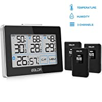FOCHEA Weather Station, Wireless Weather Stations Digital Thermometer Hygrometer Indoor Outdoor with 3 Outdoor Sensors,Humidity and Temperature Monitor for Greenhouse,Cars,Home,Office