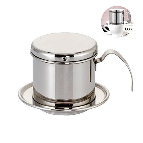Kobwa Kaffee Maker Topf, Edelstahl Vietnamesische Kaffee Tropf Filter Maker Vietnamesische Kaffee...
