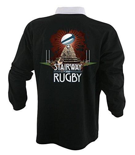 HASTA Le Rugby–Trikot schwarz Stairway to rugby-england M schwarz