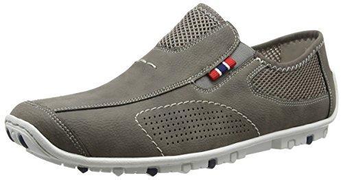 Rieker 08956 Loafers & Mocassins-men, Mocassins homme Gris - Grau (cement/dust / 40)
