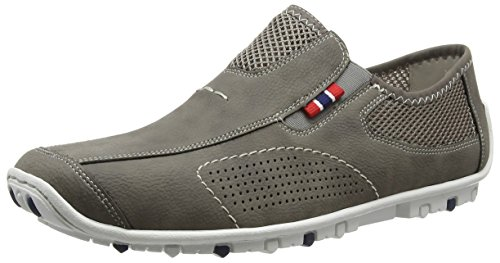 Rieker 08956 Loafers & Mocassins-men Herren Slipper Grau (cement/dust / 40)