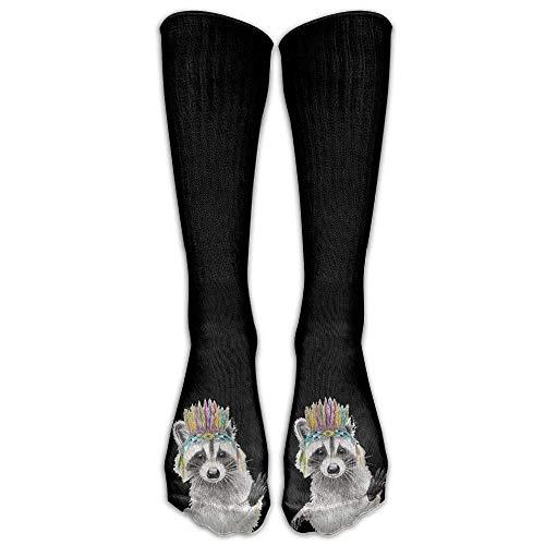 Bgejkos New Unisex India Prepster Raccoon Athletic Socks Stockings Tube Socks(c702b8f7) 0
