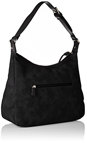 David Jones - Cm3752, Borse a spalla Donna Nero (Black)