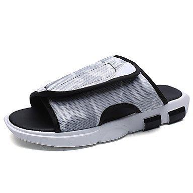 Slippers & amp da uomo;Sandali estate luce Soles Tulle casuale Verde Grigio Nero sandali US7 / EU39 / UK6 / CN39