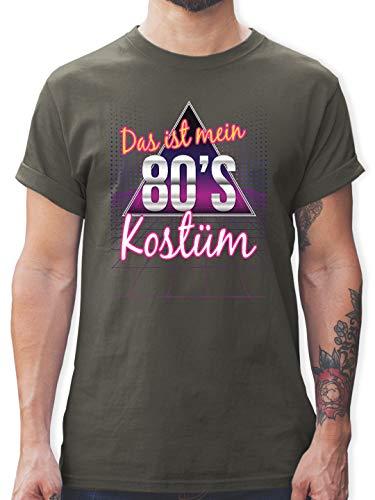 Karneval & Fasching - Das ist Mein 80er Jahre Kostüm - L - Dunkelgrau - L190 - Herren T-Shirt und Männer Tshirt