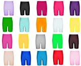 Papaval Girls Boys Nylon Lycra Cycling Shorts Kids Children's School Gym Dance Shorts