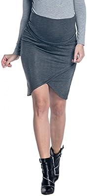 Zeta Ville - Premama midi falda asimétrica banda barriga elástica - mujer - 260c