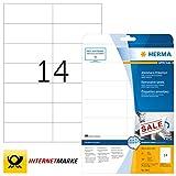 HERMA SuperPrint (105 x 42,3 mm), etichette removibili, colore: Bianco