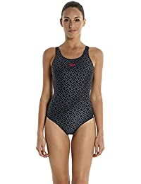 Speedo Damen Badeanzug Monogram Muscleback mit Allover-Print