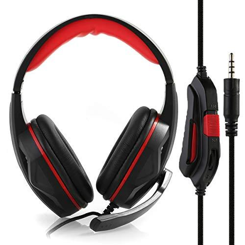 Topsale-ycld Gaming Headset Wired Bass Stereo Noise Isolation Gaming-Kopfhörer für Online-Gaming mit Mikrofon für Laptop-Computer Handy PS4 und so weiter-Lautstärkeregler