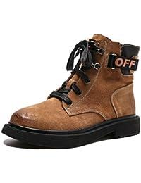 6778115b65e LIANGXIE Botas Sin Tacón De Cuero para Mujer Zapatos De Tacón Alto para  Mujer Inglaterra Botas