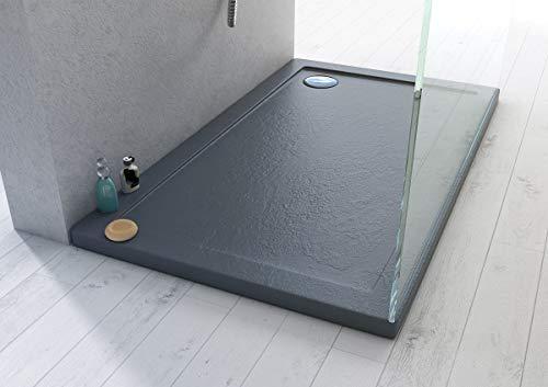 Piatto doccia 80x90x4 rettangolare acrilico effetto pietra