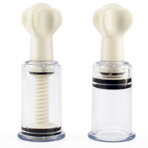 marielove Nippelsauger Paar Brustwarzensauger für BDSM Bondage oder Schröpfen - Gewinde - 28mm - sehr stark - 3