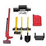 MagiDeal Mini Kraftstofftank Winde Jack Werkzeuge Kit Für 1:10 Land Rover Defender D90 RC4WD D90 SCX10 Rock Crawler RC-Car ‖ Rc Modellbau ‖ RC Ferngesteuerte Autos - Rot