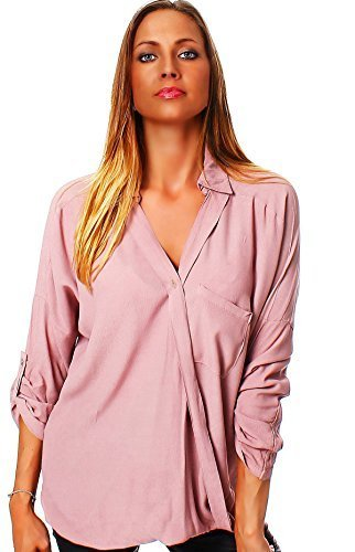 Italy Moda - Camicia -  donna Rosa tramonto  38