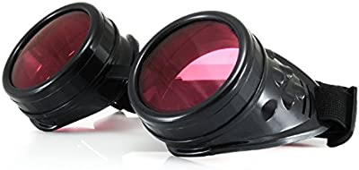 4sold (TM)-Gafas de steampunk negro Cyber Rave fangbanger Vintage Victorian como gafas de sol