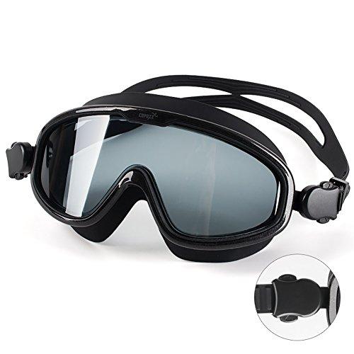 Schwimmbrille HD wasserdicht Anti-Fog große Box Schwimmen Brille Männer und Frauen Erwachsene professionelle Ausrüstung, unisex, Farbe optional. (Farbe : Usual light black 1)