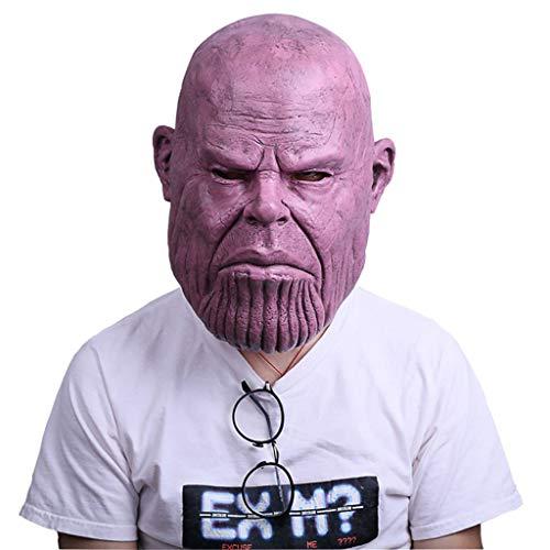Henxizucun Thanos Glatze Maske Avengers 3 Unendlichkeits-Krieg Cosplay Haube Held Latex Maske Halloween Horror (Halloween Kostüme Basierend Auf Den Filmen)