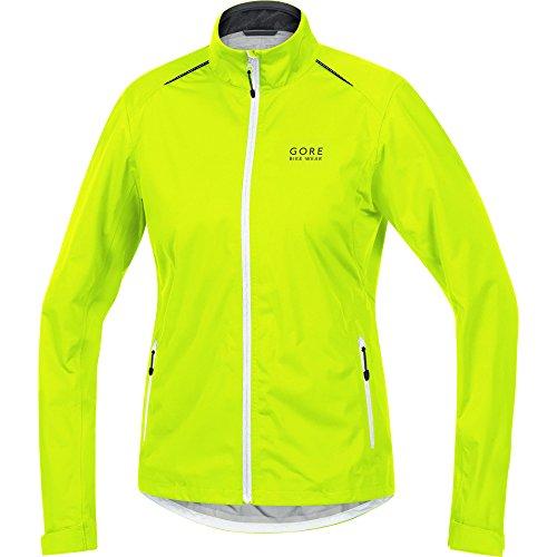 GORE WEAR Damen Element Lady TEX Active Jacke, Neon Gelb/Weiß/Schwarz, 36