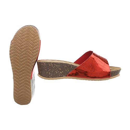 Sandali Con Zeppa Ital-design Scarpe Da Donna Con Zeppa / Zeppa Con Zeppa Sandali Con Sandali Rossi A-93