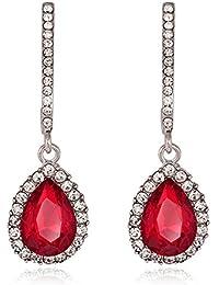 9861c7320102 Strass cristal colgador Pendientes Pendientes Pendientes de gota Forma piedra  rojo
