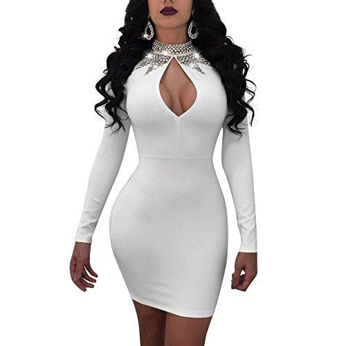 el Kleid Pailletten Perspektive Strampelhöschen Unterwäsche Kostüm Katzenfrau Catsuit Body Overall , white , XXL (Pailletten-katze-anzug)