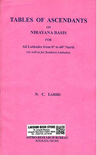 Lahiri Table of Ascendants on Nirayana Basis