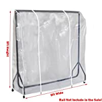 Quality Clear Garment Rail Cover Transparent Clothes rail cover 3ft 4ft 5ft 6ft (For 5ft Long Rail )