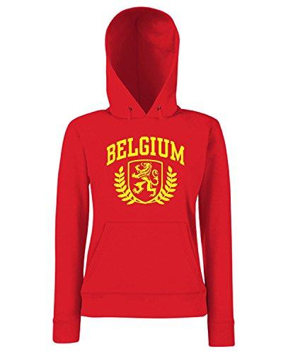 T-Shirtshock - Sweats a capuche Femme TSTEM0225 belgium 1 Rouge