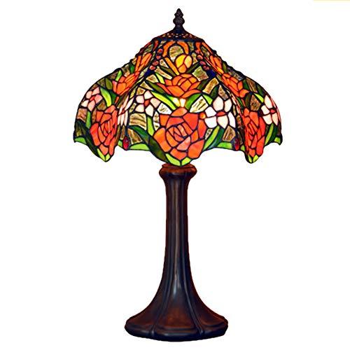 Tiffany Style Tischlampe, Bunt Glasdesign Schreibtischlampe, 12 Zoll Europäische...