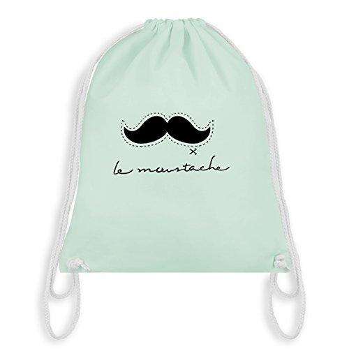 (Shirtracer Hipster - le moustache - Unisize - Pastell Grün - WM110 - Turnbeutel & Gym Bag)