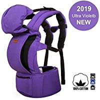 MaxKare Baby Carrier Infant Toddler Baby Backpack in Ergonomic Position 3 Carrying Ways with Large Breathable Mesh Accessories Pockets and Hood