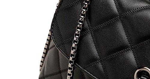 Lingge Kette Tasche Handtasche Schultertasche Messenger Bag Freizeit Wilde Black