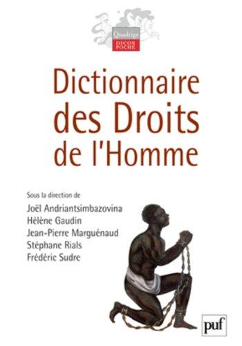 Dictionnaire des droits de l'homme par Andriantsimbazovina Joël (sous la dir. de)