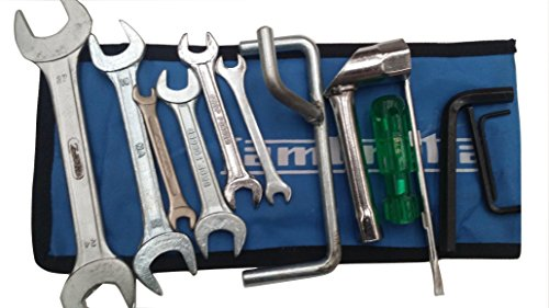 Price comparison product image LAMBRETTA HANDY TOOLKIT & BLUE POUCH 13 PC PROP,  PLUG SPANNER,  SCREW DRIVER NEW