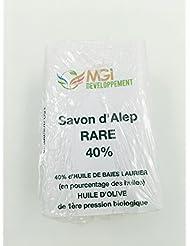 Savon d'Alep BIO 40% huile de laurier - Fabrication artisanale française avec un savoir faire ancestral - 150gr