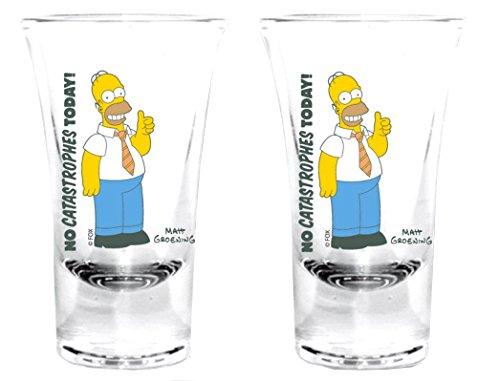 The Simpsons-Bicchierini Set di Homer con cravatta