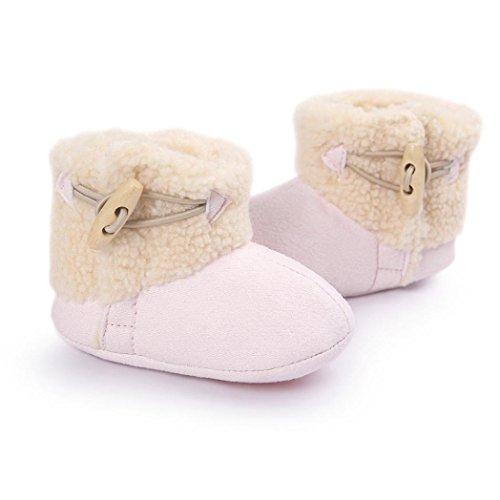BZLine® Kleinkind warme Sohle Baumwolle Krippe Stiefel Krabbelschuhe Pink
